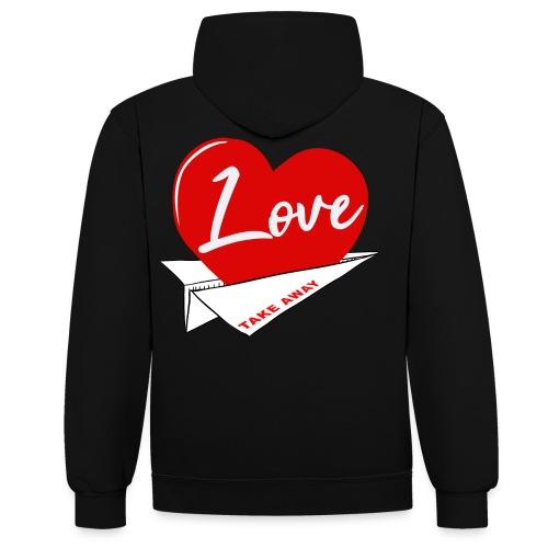 Love take away - Sudadera con capucha en contraste