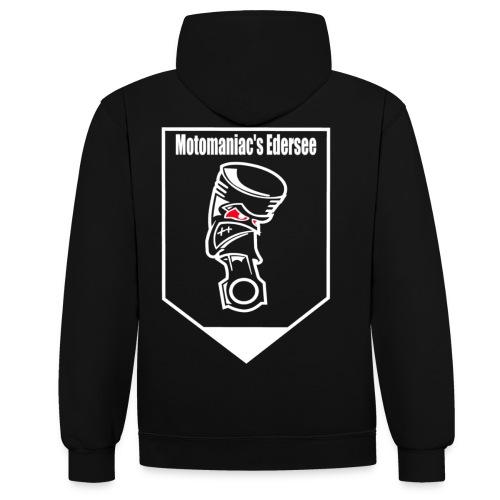 Motomaniac's Weißes Design - Kontrast-Hoodie