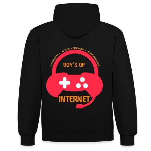 LOGO IN HOGE RESOLUTIE png - Contrast hoodie