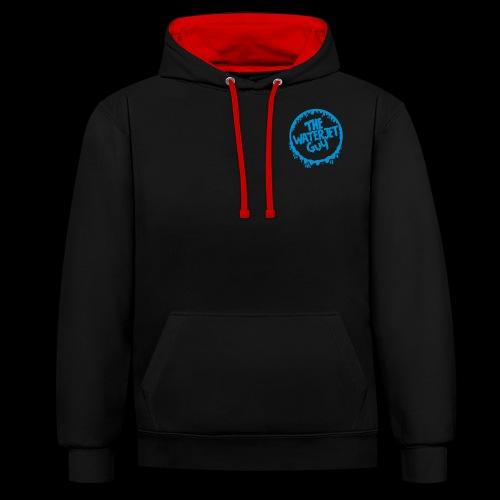 Waterjet guy Logo - Contrast Colour Hoodie