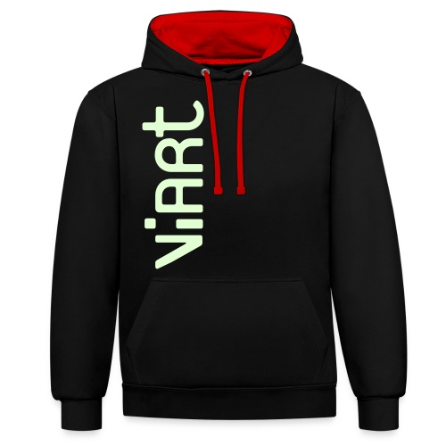 ViArt Logo - Kontrast-Hoodie
