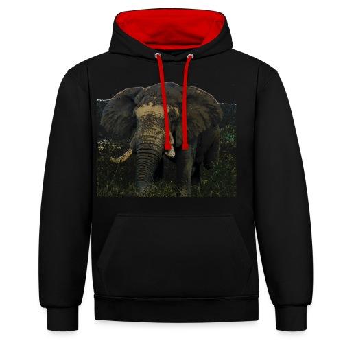 Elephant - Kontrast-Hoodie