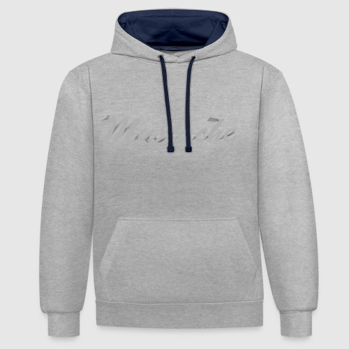 White Lettering - Contrast Colour Hoodie