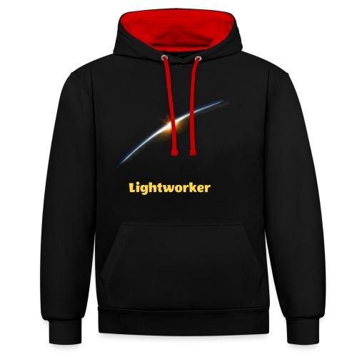 Lightworker-Earth - Kontrast-Hoodie