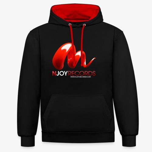 Logo Njoy Records Blanc - Sweat-shirt contraste