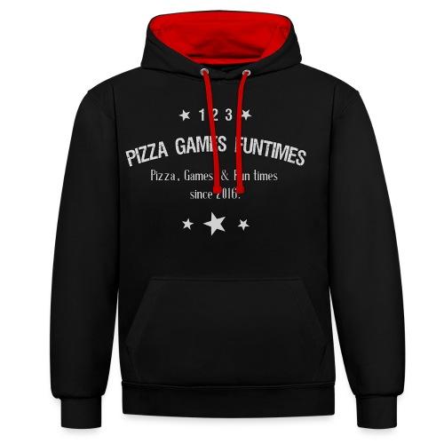 Retro Pizza - Contrast Colour Hoodie