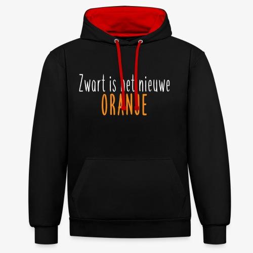 Zwart is het nieuwe oranje - Contrast hoodie