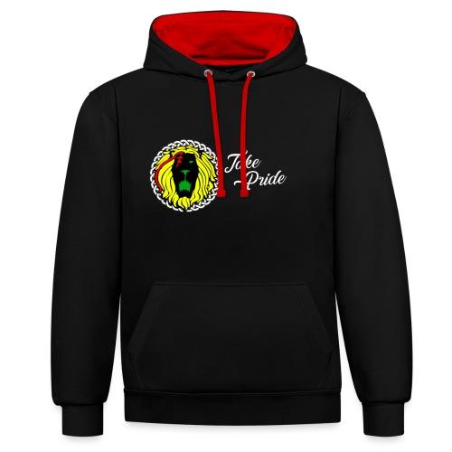 Take Pride Hoodie - Black - Contrast Colour Hoodie