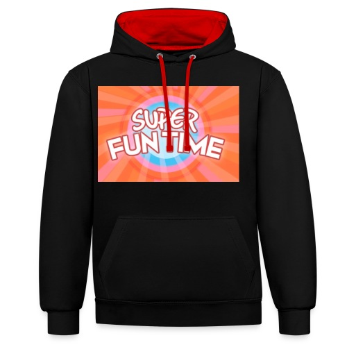 Fun time - Contrast Colour Hoodie