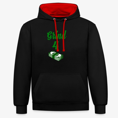 Grind4Money - Contrast Colour Hoodie