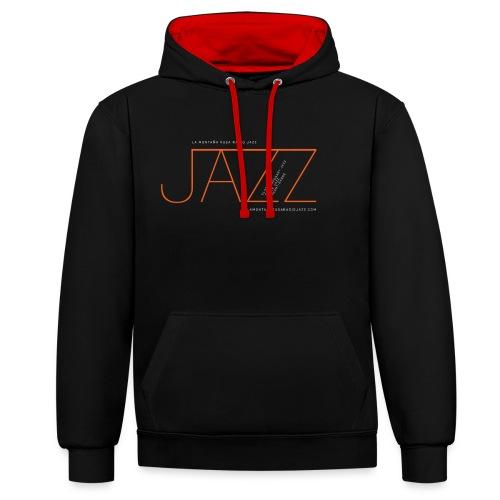 Jazz en La Montaña Rusa Radio Jazz - Sudadera con capucha en contraste