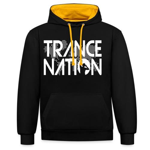 Trance Nation (White) - Kontrastluvtröja