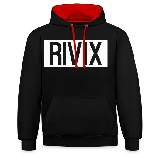 Rivix white box - Contrast Colour Hoodie