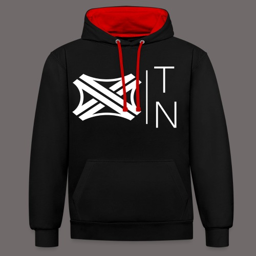Tregion logo Small - Contrast Colour Hoodie
