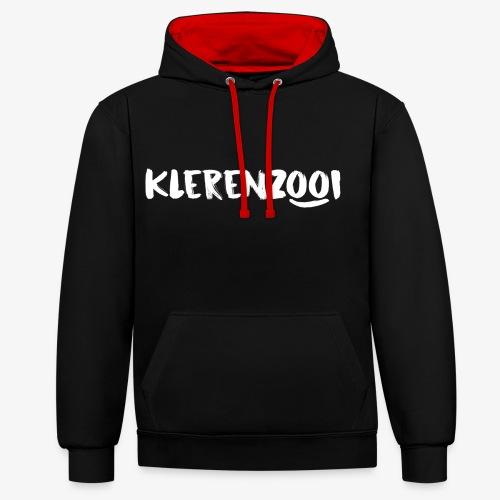Zwarte mannencollectie - Contrast hoodie