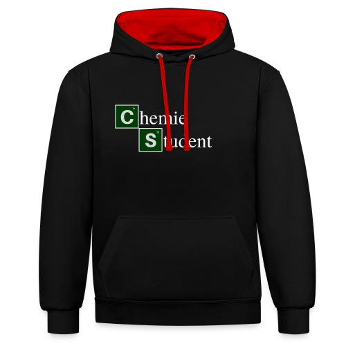 Chemie Student - Kontrast-Hoodie