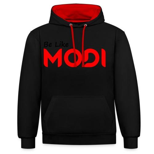 Be Like MoDi - Bluza z kapturem z kontrastowymi elementami