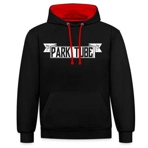ParkTube Banner weiss - Kontrast-Hoodie