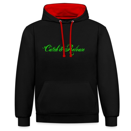 Catch N Release Neon Green - Sweat-shirt contraste