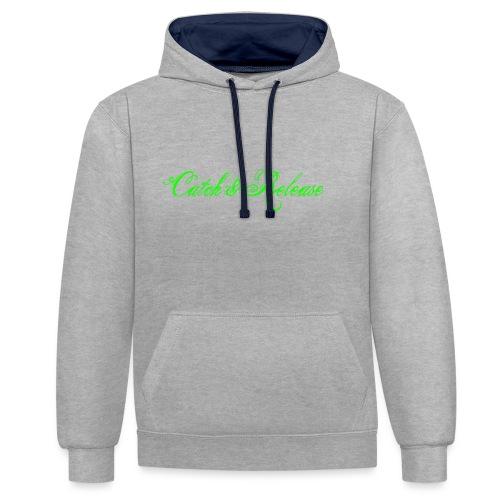 Catch N Release Neon Green - Sweat-shirt contraste