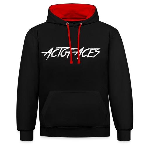 Act of Aces Hoodie - Kontrast-Hoodie