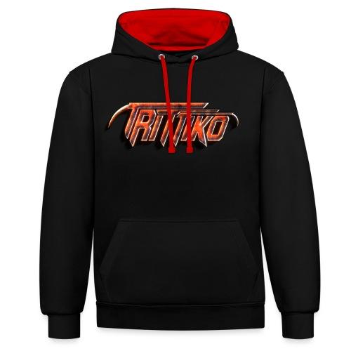 Trittiko Logo Rot 3D - Kontrast-Hoodie