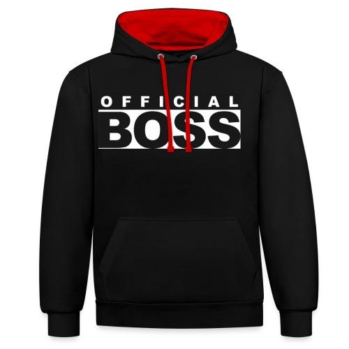 Born a Boss - Contrast Colour Hoodie
