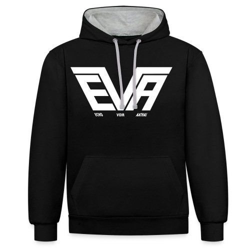 EVA Logo FB 01fürPfade - Kontrast-Hoodie