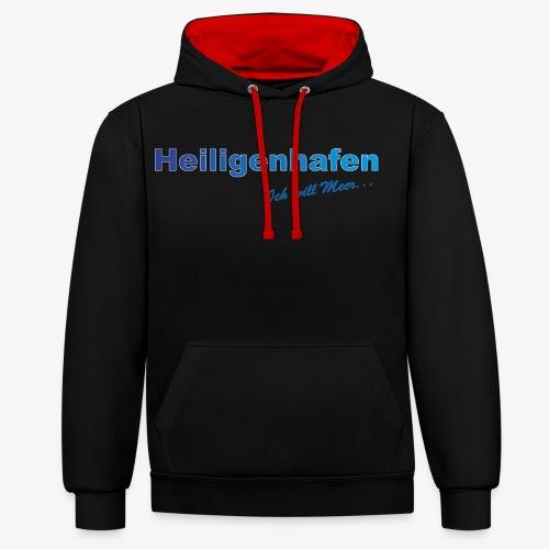 Heiligenhafen auf dunkel gif - Kontrast-Hoodie