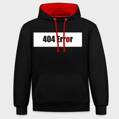404 Error - Kontrast-Hoodie