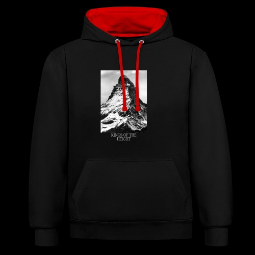 KING MOUNTAIN - Contrast Colour Hoodie
