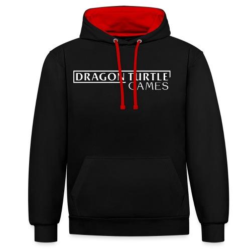 Dragon Turtle Games Logo White - Contrast Colour Hoodie