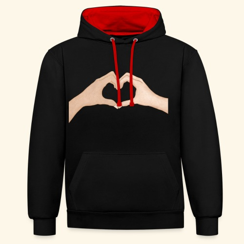 Mains Coeur Amour - Love hands - Sweat-shirt contraste