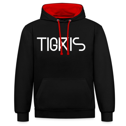 Tigris Vector Text White - Contrast Colour Hoodie