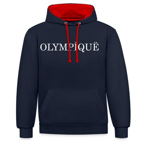 OLMPQ - Contrast hoodie