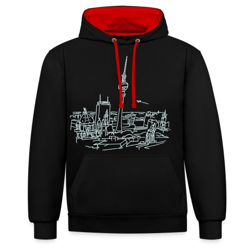 Le panorama de Berlin - Sweat-shirt contraste