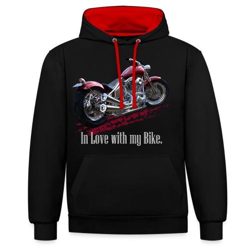In Love with my Bike - Kontrast-Hoodie