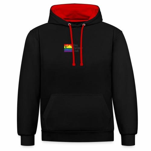 GOC Logo Black Text - Contrast Colour Hoodie