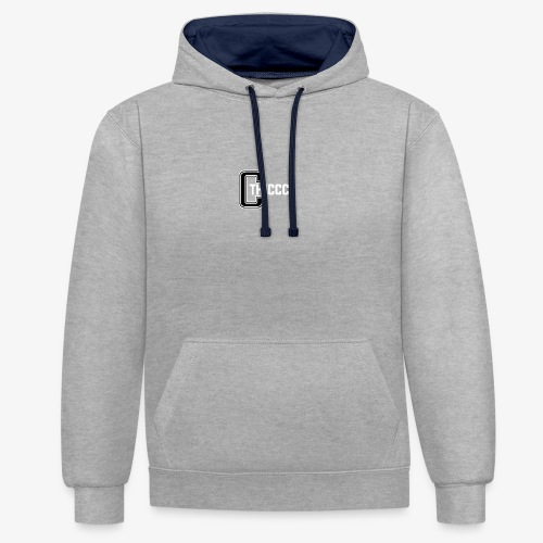 thiccc logo Black and White - Contrast Colour Hoodie