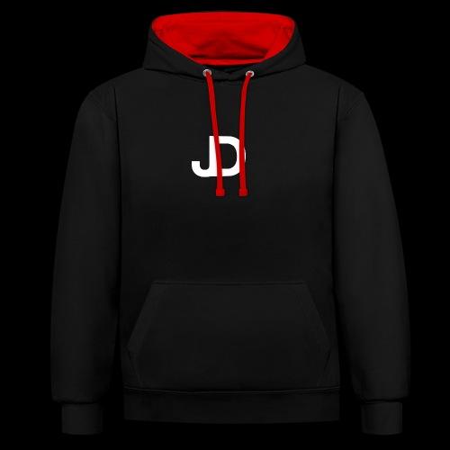 JD logo - Contrast hoodie