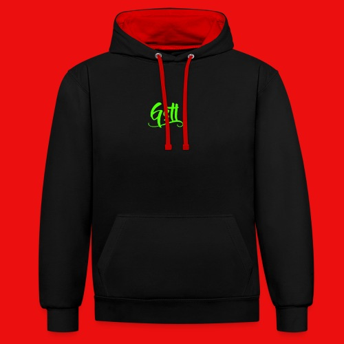 Gstl_Logo_-Green- - Contrast Colour Hoodie