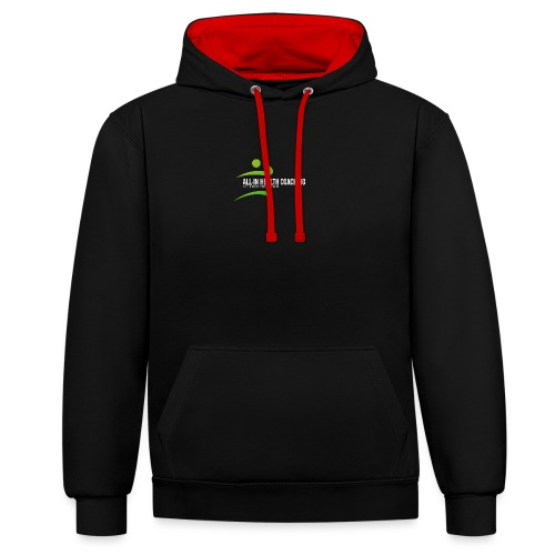 All-in Health Coaching logo - Contrast hoodie