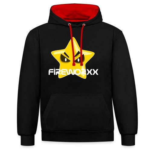 Fireworxx - Kontrast-Hoodie