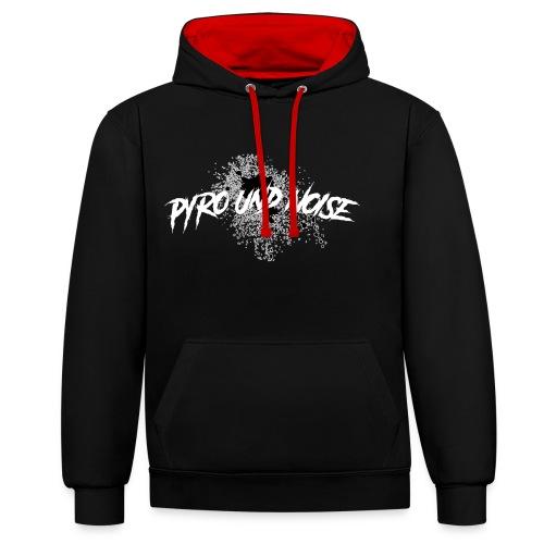 Pyro und Noise / Brush Design - Kontrast-Hoodie