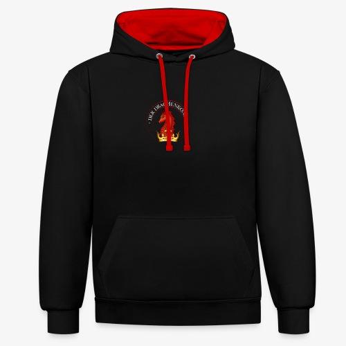 Der Drachenkönig Logo - Kontrast-Hoodie