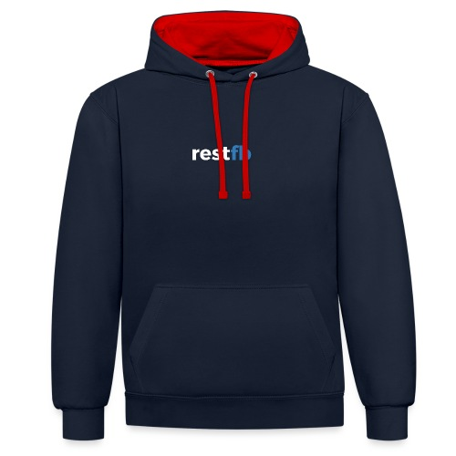 RestFB logo white - Contrast Colour Hoodie