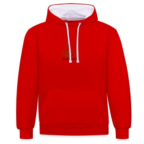 Sustained Sweatshirt - Kontrast-hættetrøje
