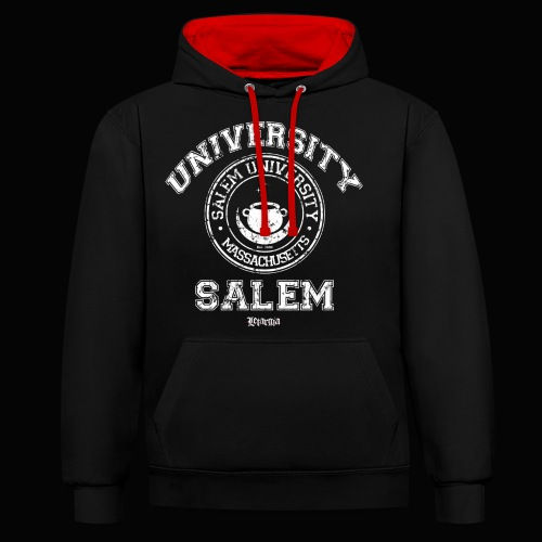 Salem University - Sudadera con capucha en contraste