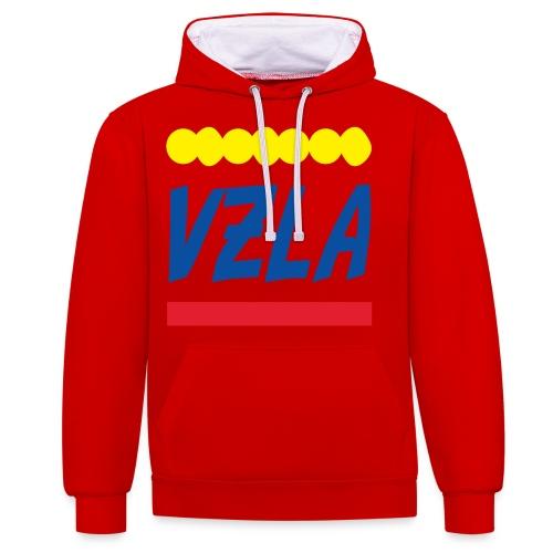 vzla 01 - Sudadera con capucha en contraste