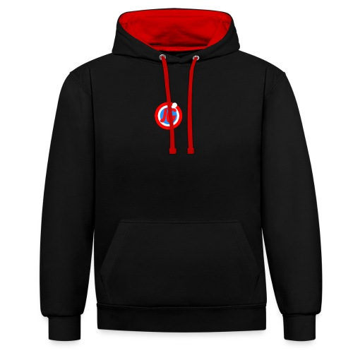 TEAM JG Logo top - Contrast Colour Hoodie